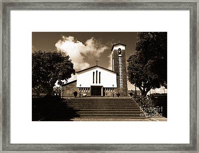 Azorean Church Framed Print by Gaspar Avila