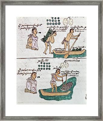 Aztec Daily Life, C1540 Framed Print
