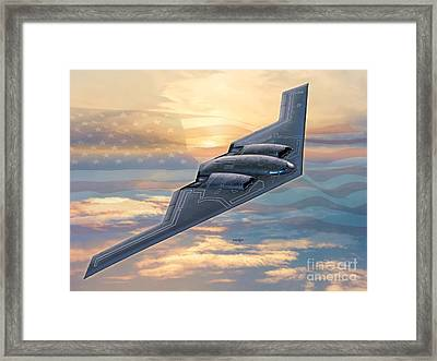 B-2 Spirit Framed Print by Stu Shepherd