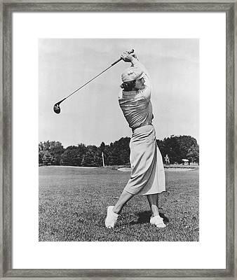 Babe Didrikson Golfing Framed Print