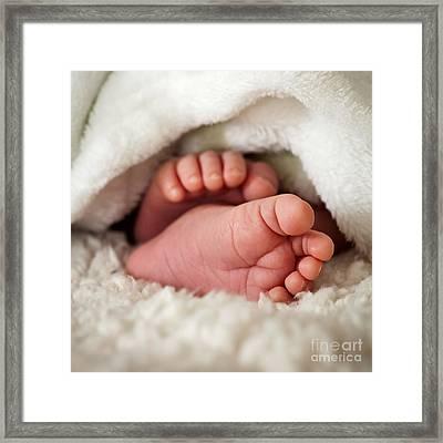 Baby Toes Framed Print by Kati Molin