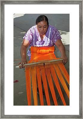 Backstrap Loom Weaver Framed Print