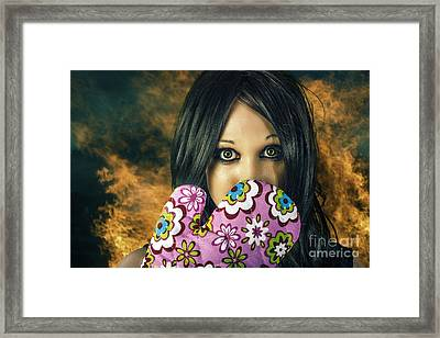 Bad Cooking Woman Burning Down House Framed Print by Jorgo Photography - Wall Art Gallery