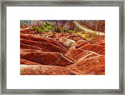 Framed Print featuring the photograph Badlands by Michaela Preston