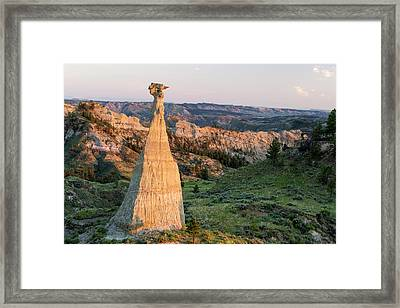 Badlands Of The Missouri River Breaks Framed Print by Chuck Haney