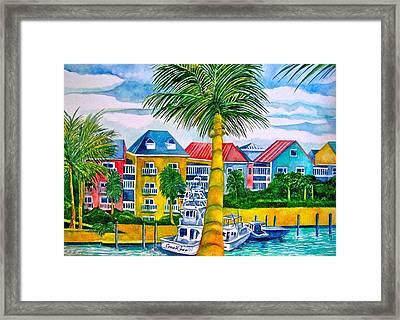 Bahamian Blues Framed Print
