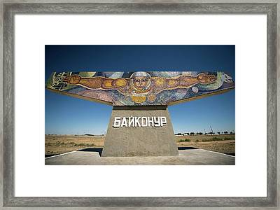 Baikonur Spaceflight Mural Framed Print by Nasa/bill Ingalls