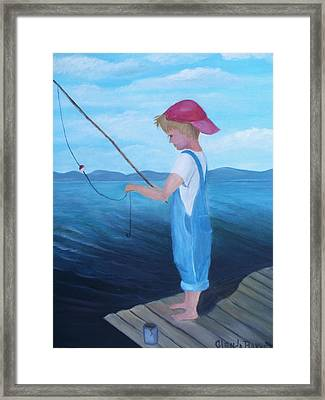 Bait Stealers Framed Print by Glenda Barrett