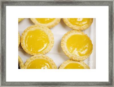 Baked Lemon Tarts Framed Print