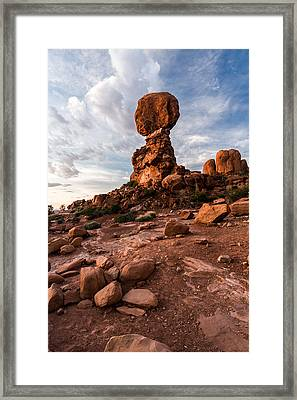 Balanced Rock Framed Print by Jay Stockhaus