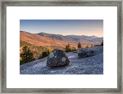 Balanced Rocks On Pitchoff Mountain Framed Print by Panoramic Images