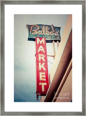 Balboa Market Sign Newport Beach Photo Framed Print by Paul Velgos