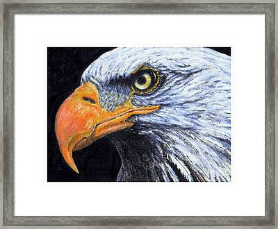 Framed Print featuring the digital art Bald Eagle by David Blank