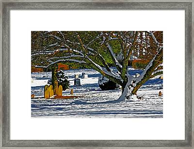Baldwin Memorial United Methodist Church Cemetery Framed Print