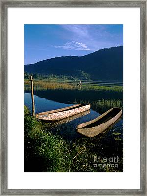 Bali Boats Framed Print by Jerry McElroy