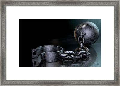 Ball And Chain Dark Framed Print by Allan Swart