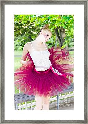 Ballerina Stretching And Warming Up Framed Print by Jorgo Photography - Wall Art Gallery