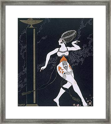 Ballet Scene With Tamara Karsavina Framed Print by Georges Barbier