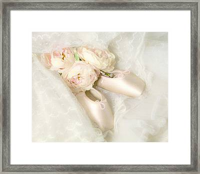 Ballet Shoes Framed Print by Theresa Tahara
