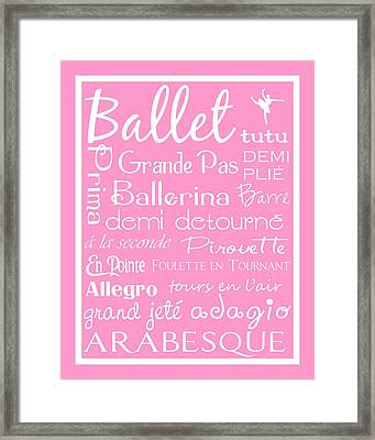 Ballet Subway Art Framed Print by Jaime Friedman