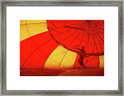Framed Print featuring the photograph Balloon Fantasy 2 by Allen Beatty