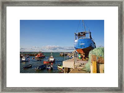 Ballycotton Fishing Harbour,county Framed Print