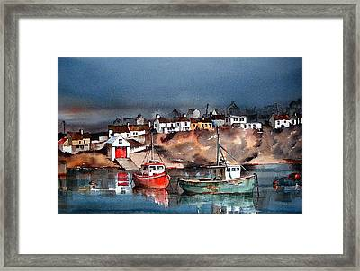 Ballycotton Harbour East Cork Framed Print