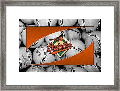 Baltimore Orioles Framed Print by Joe Hamilton