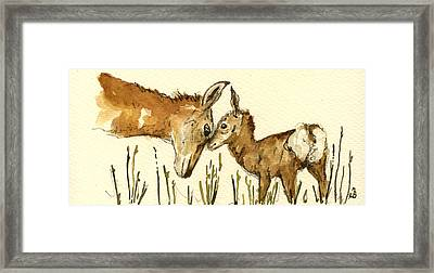 Bambi Deer Framed Print by Juan  Bosco