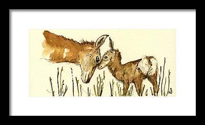 Bambi Framed Prints