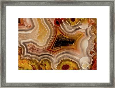 Banded Mexican Agate, Sammamish Framed Print by Darrell Gulin