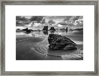 Bandon By The Sea Monochrome 1 Framed Print by Bob Christopher