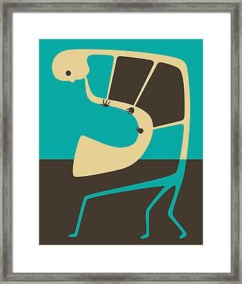 The Blues Sax Framed Print