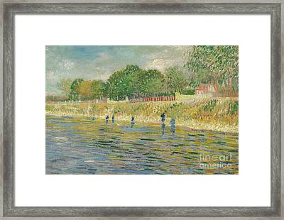 Bank Of The Seine Framed Print by Vincent van Gogh