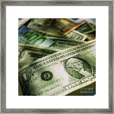 Banknotes Framed Print by Bernard Jaubert