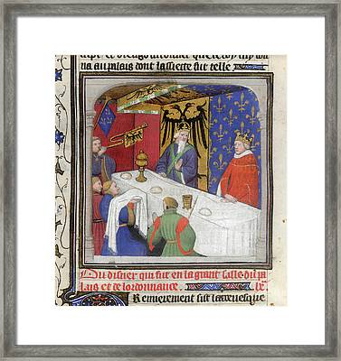 Banquet Of The Emperor And King Framed Print by British Library
