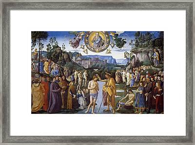 Baptism Of Christ Framed Print