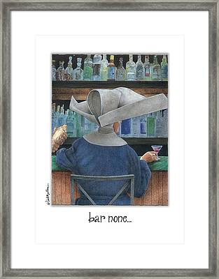 Bar None... Framed Print by Will Bullas