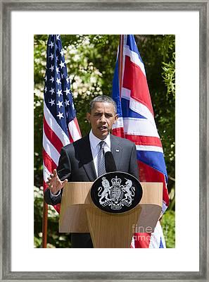 Barack Obama Framed Print by Andy Myatt