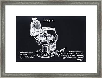 Barbershop Chair -  Patent Framed Print by Bill Cannon