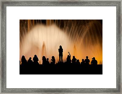 Barcelona By Night Framed Print by Artur Bogacki