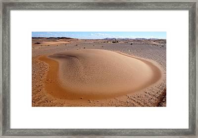 Barchan Dune Framed Print