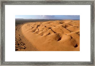 Barchan Dunes Framed Print by Thierry Berrod, Mona Lisa Production