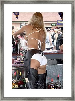 Bare Bartender Framed Print