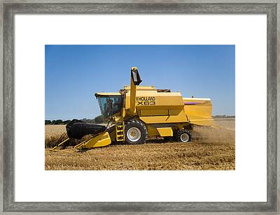 Barley Harvest  Framed Print by Paul Lilley