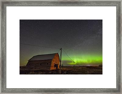 Barn Aurora Framed Print