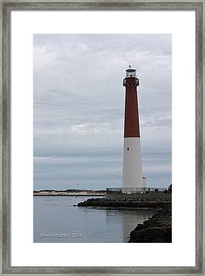 Barnegat Lighthouse Framed Print by Ann Murphy