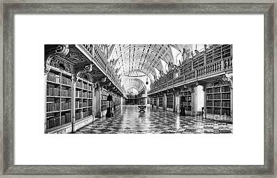 Baroque Library  Framed Print