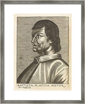 Bartolommeo De Sacchi Known Framed Print by Mary Evans Picture Library
