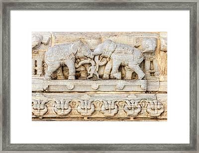 Bas Relief Jagdish Temple Udaipur Framed Print